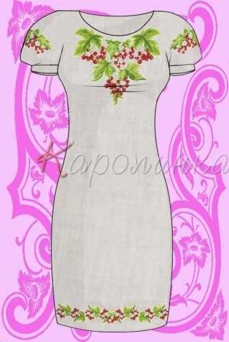 КБС/пл/-04 Заготовка для вышивки платья (Каролинка)