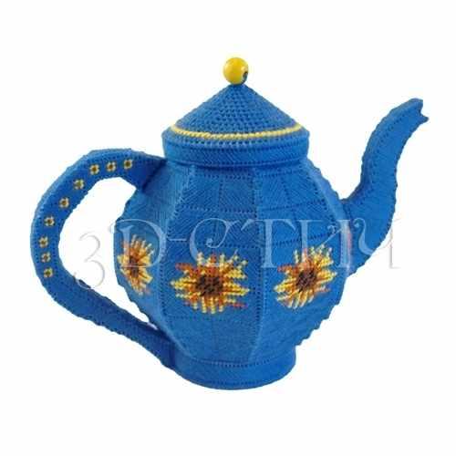 """КХ005-2 Чайник """"Подсолнухи""""(3D)"""