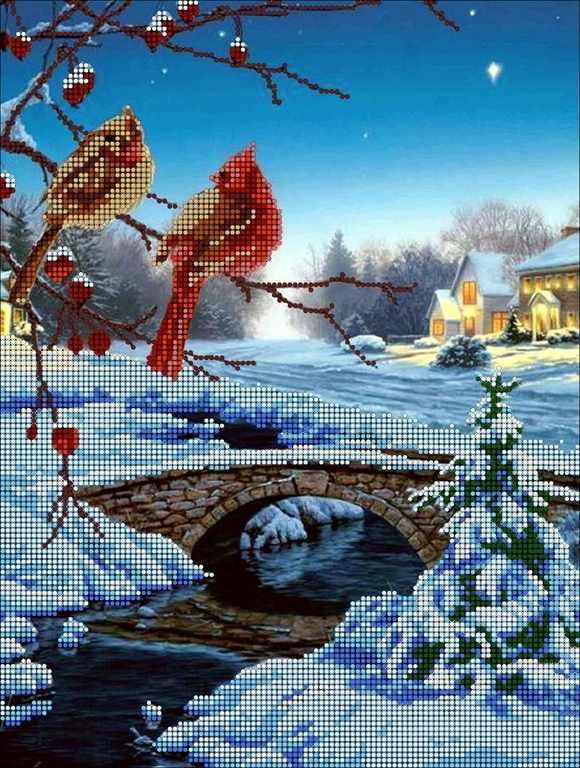 КМЧ-3306 Зимний вечер - схема (Мастерица)