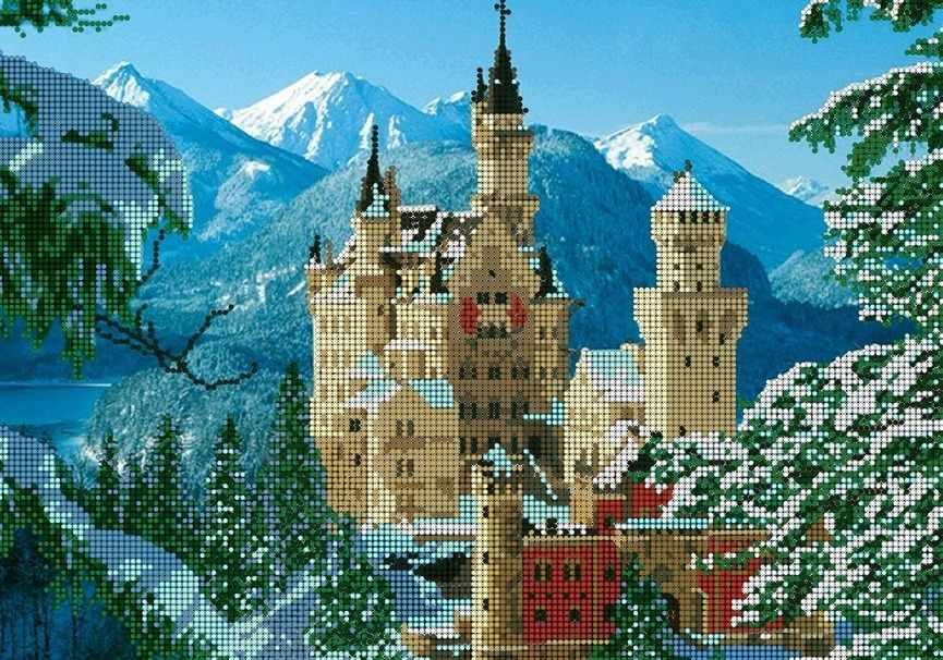 КМЧ-3385 Замок Нойшванштайн - схема (Мастерица)