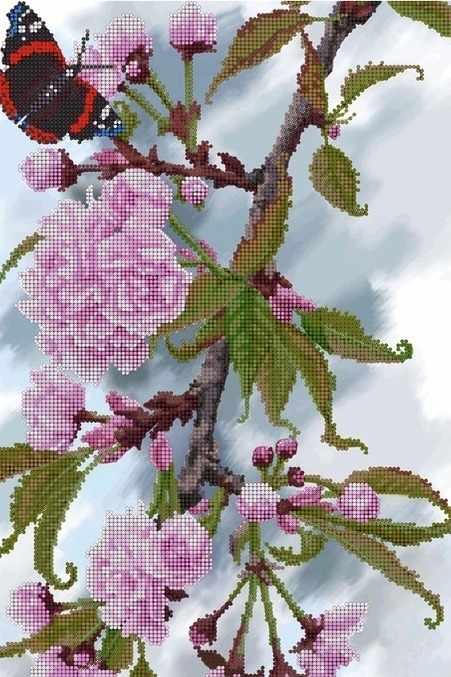КМЧ-3445 Ветка яблони - схема (Мастерица)