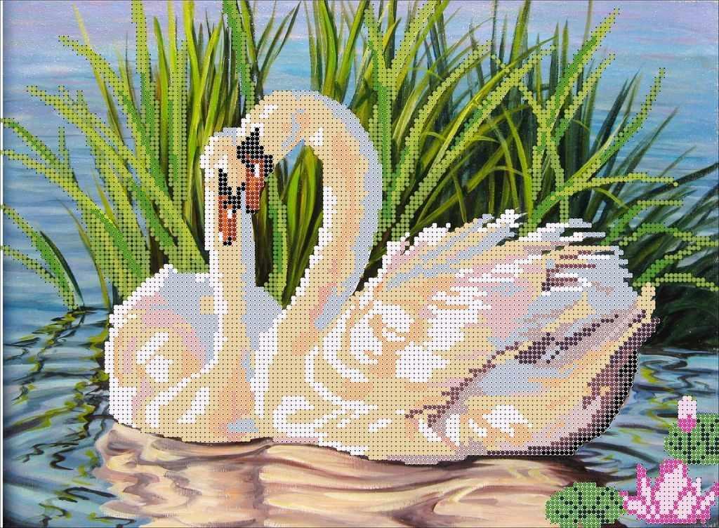 КМЧ-3467 Пара лебедей - схема (Мастерица)
