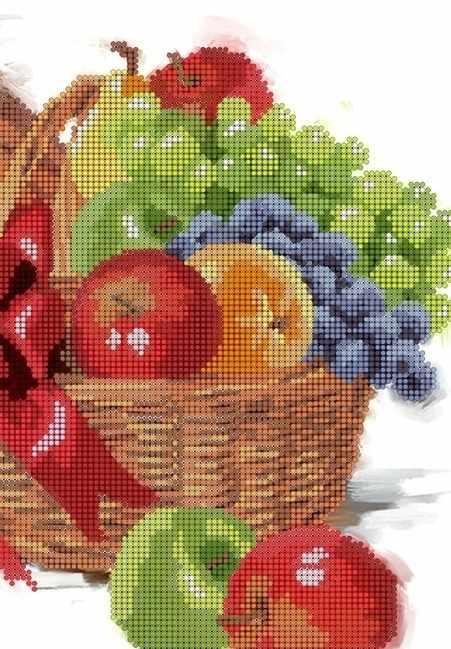 КМЧ-4363 Корзинка с фруктами - схема (Мастерица)