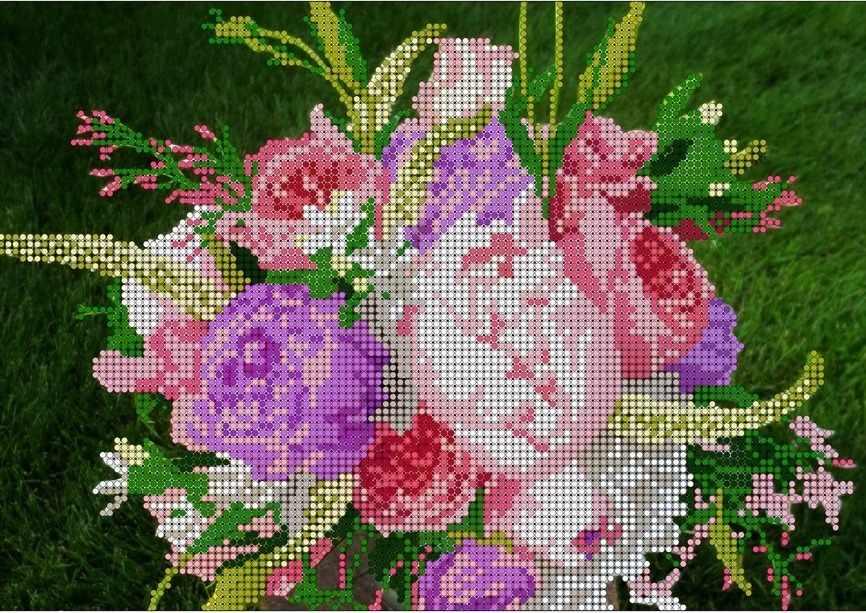 КМЧ-4367 Букет цветов - схема (Мастерица)