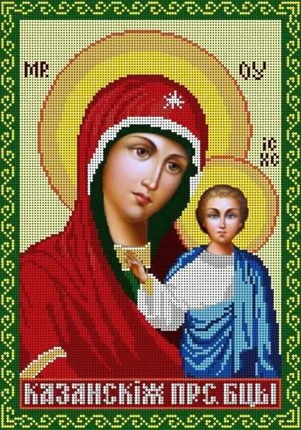 КМИ-3303 Богородица Казанская - схема (Мастерица)