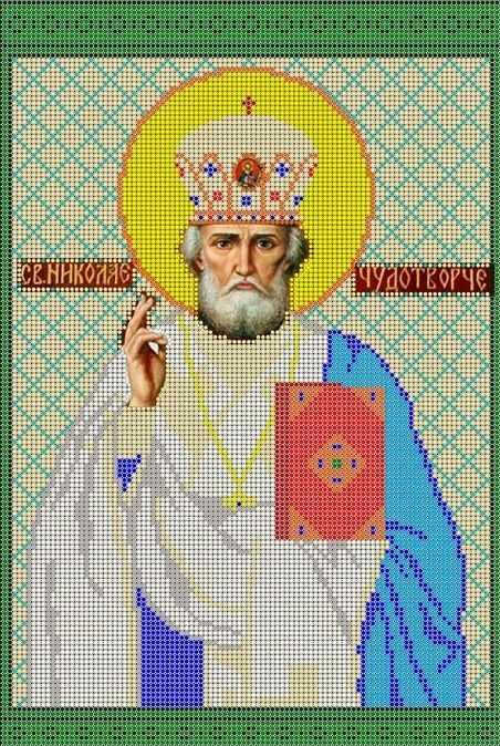 КМИ-3354 Св. Николай Чудотворец - схема (Мастерица)
