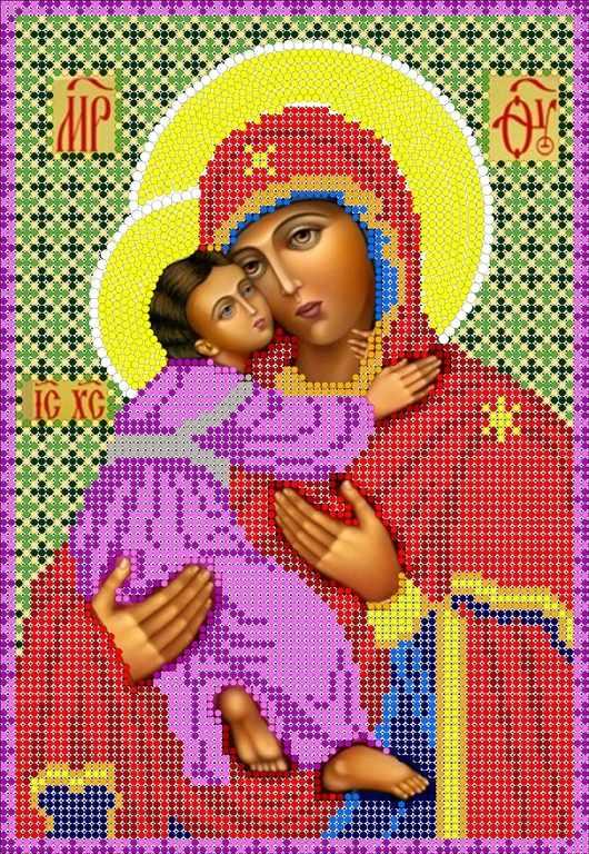 КМИ-4334 Божья Матерь Владимирская - схема (Мастерица)