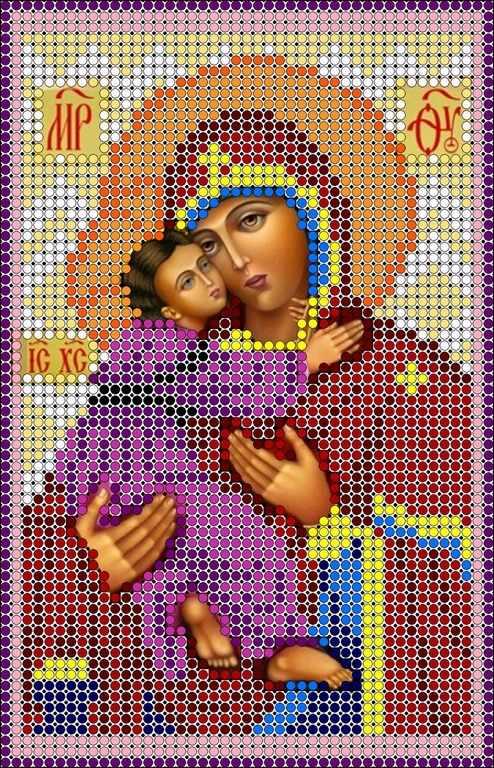 КМИ-5317 Богородица Владимирская - схема (Мастерица)