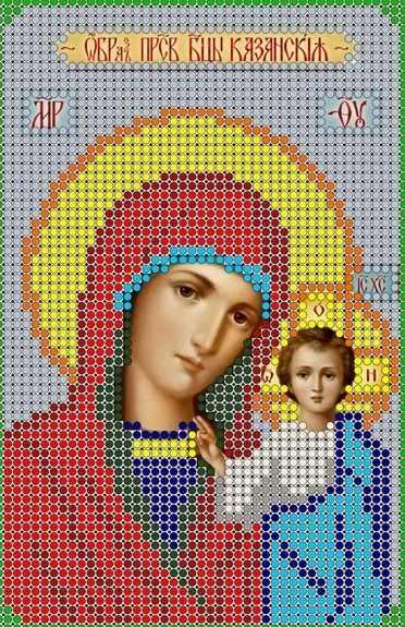 КМИ-5328 Казанская Прс. Богородица - схема (Мастерица)