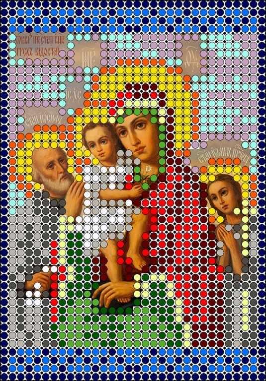 КМИ-6447 Богородица Трех радостей - схема (Мастерица)