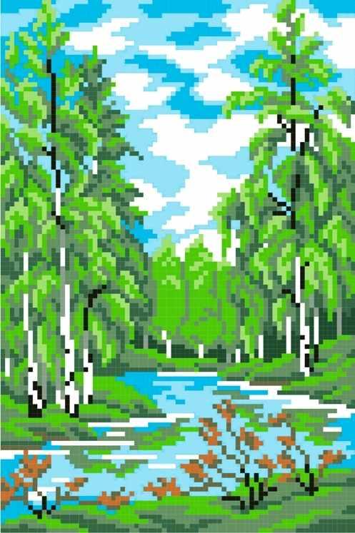 КН-424 Летний лес (МП Студия)