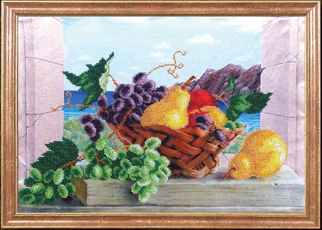 КС-005 Груши с виноградом - Магия канвы