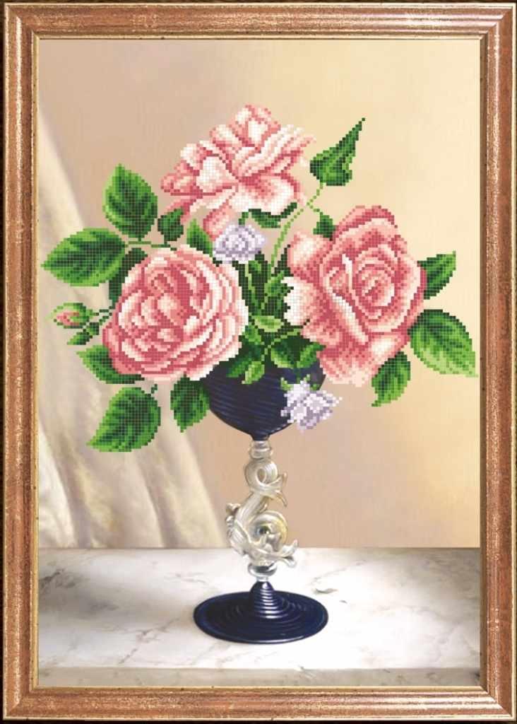 КС-025 Розовое трио - Магия канвы