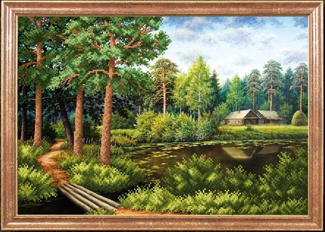КС-037 День в сосновом лесу - Магия канвы