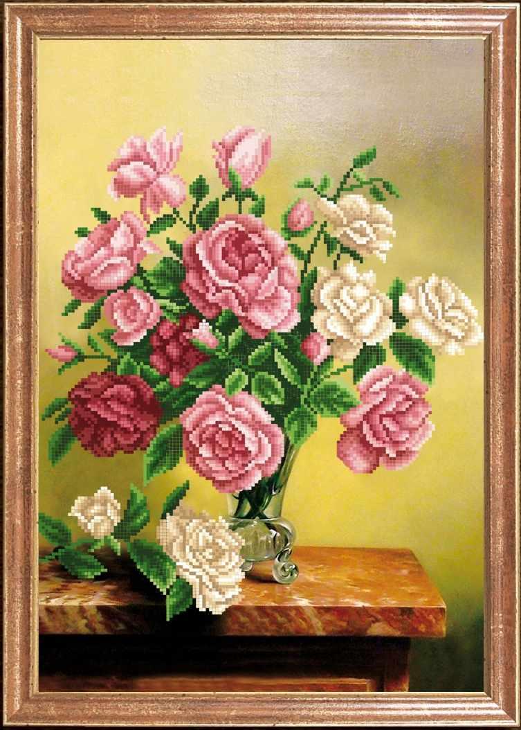 КС-057 Розы деликатные - Магия канвы