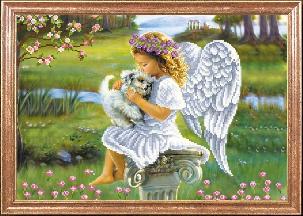 КС-059 Ангелочек с собачкой - Магия канвы