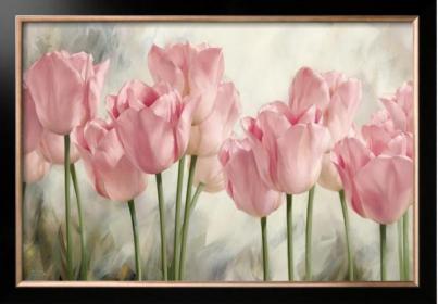 КС-064 Акварельные тюльпаны - схема (Славяночка)