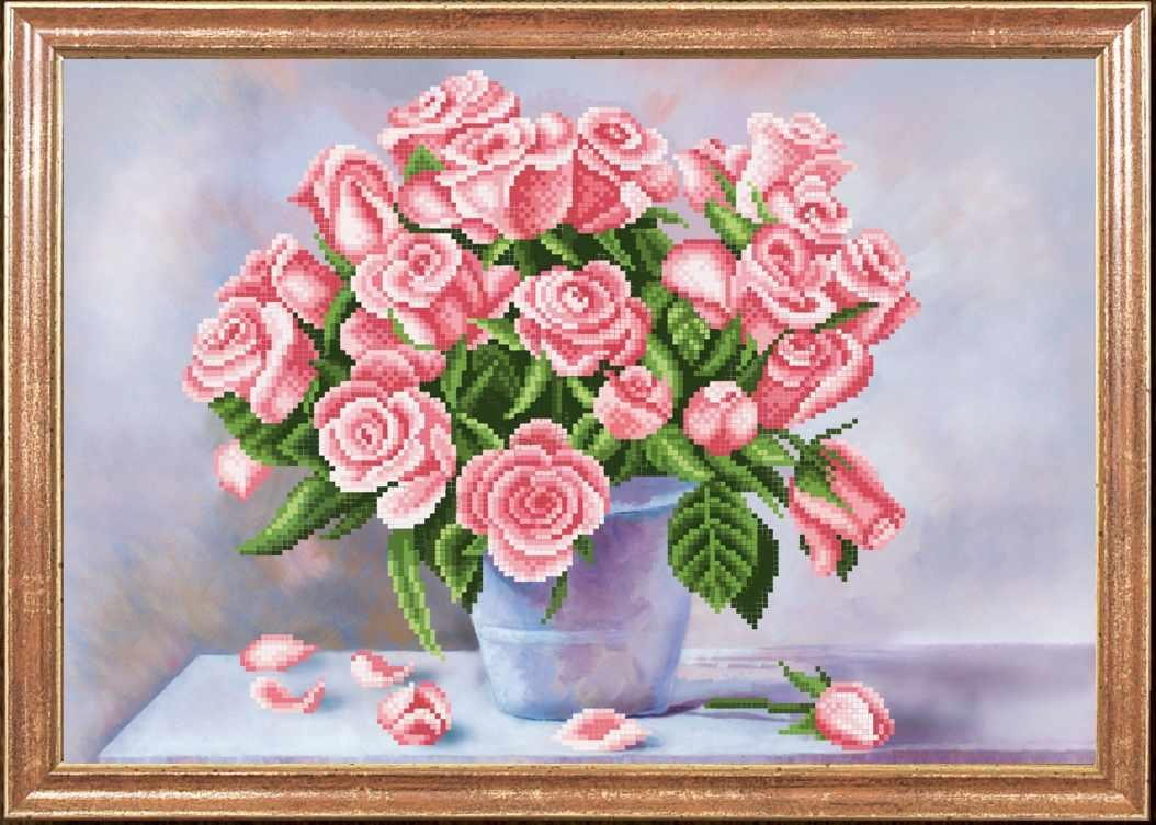"""КС-074 """"Ароматные розы"""" -Магия канвы"""