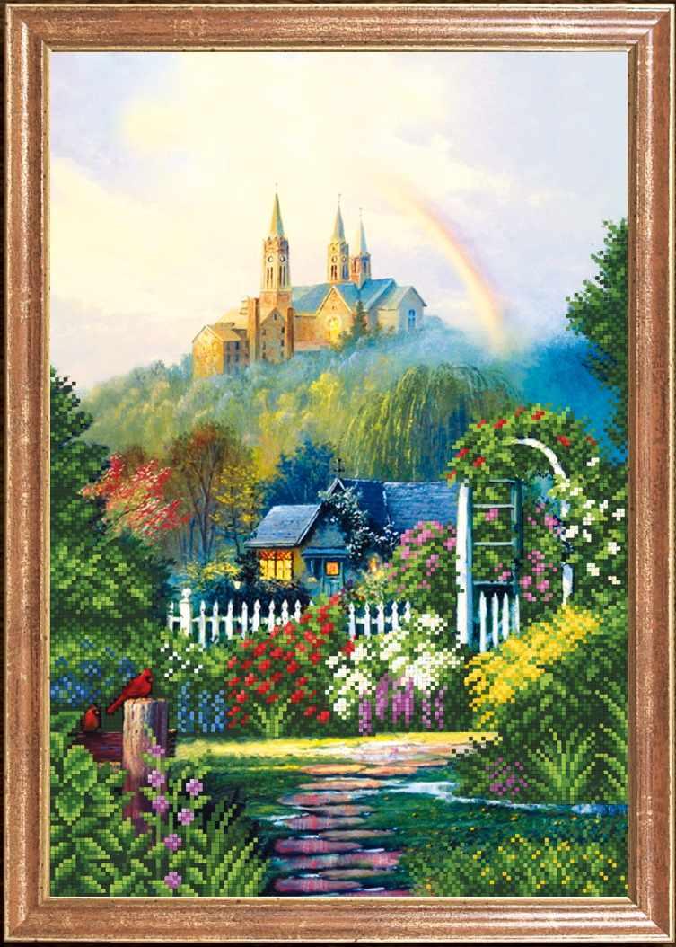 """КС-080 """"Радуга и замок"""" -Магия канвы"""