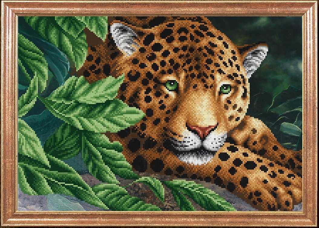 КС-088 Леопард на отдыхе - Магия канвы