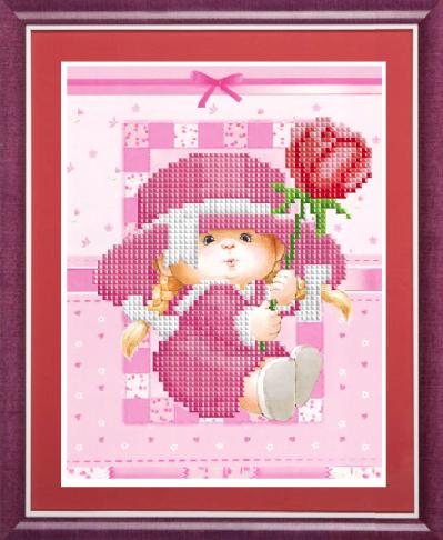 КС-139 Малышка с тюльпаном - схема (Славяночка)