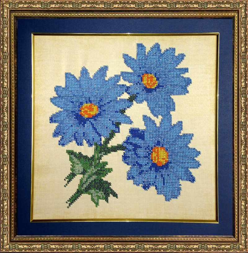 КВ401 Голубые ромашки - набор