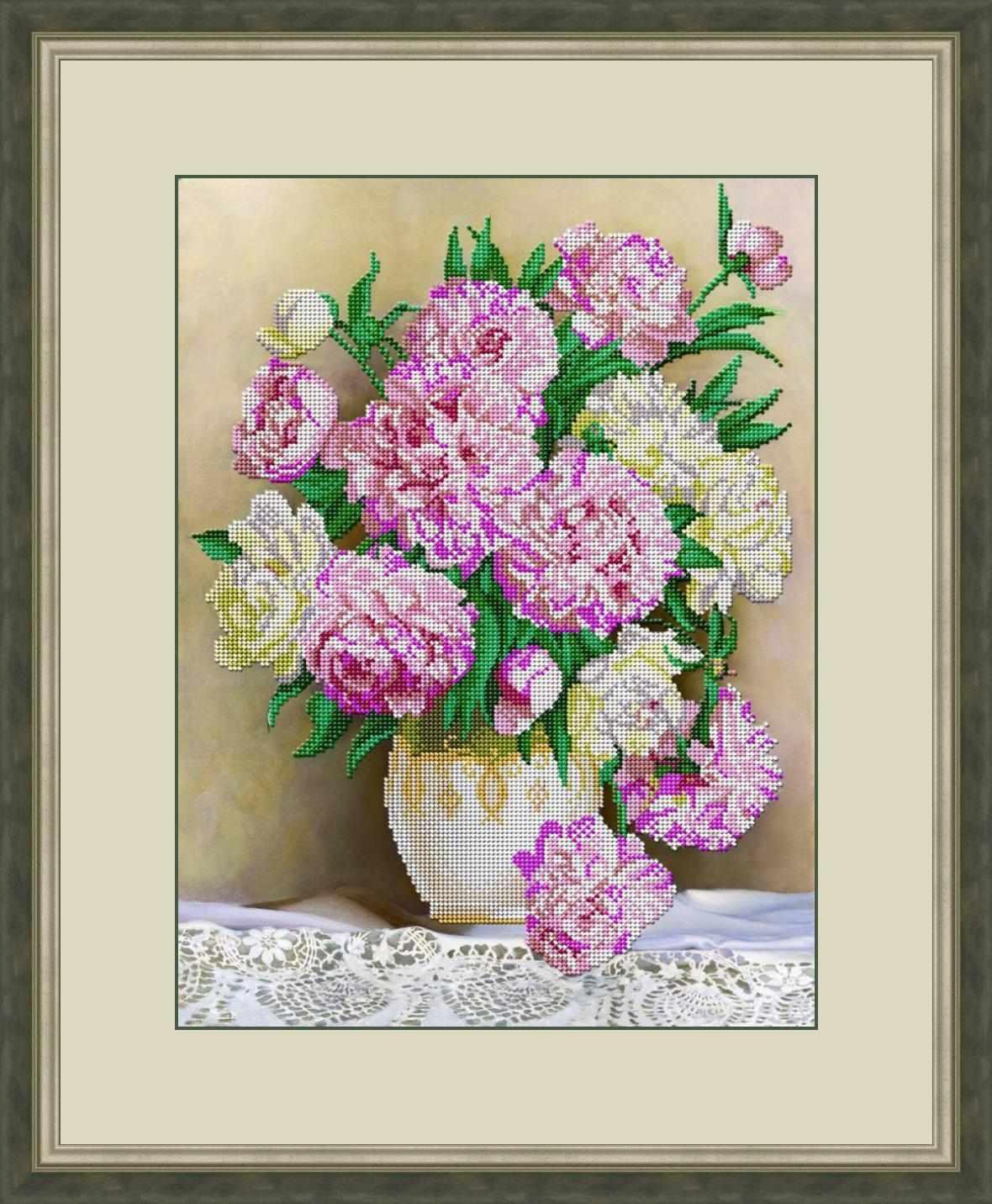 Л 332 Пионы в вазе - набор (Galla Collection)
