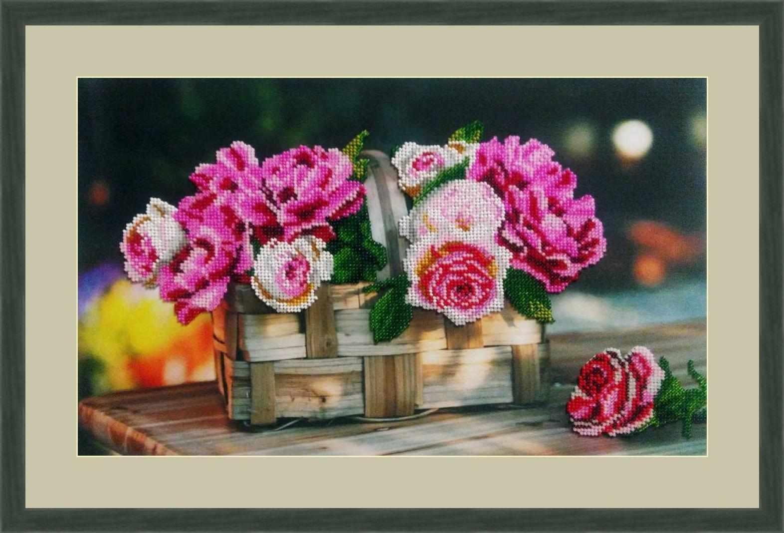Л 333 Розы в корзине - набор (Galla Collection)