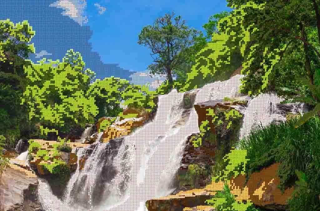 Лесной водопад (Простор)