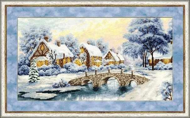 ЛП-026 Зимний закат.Лирический пейзаж