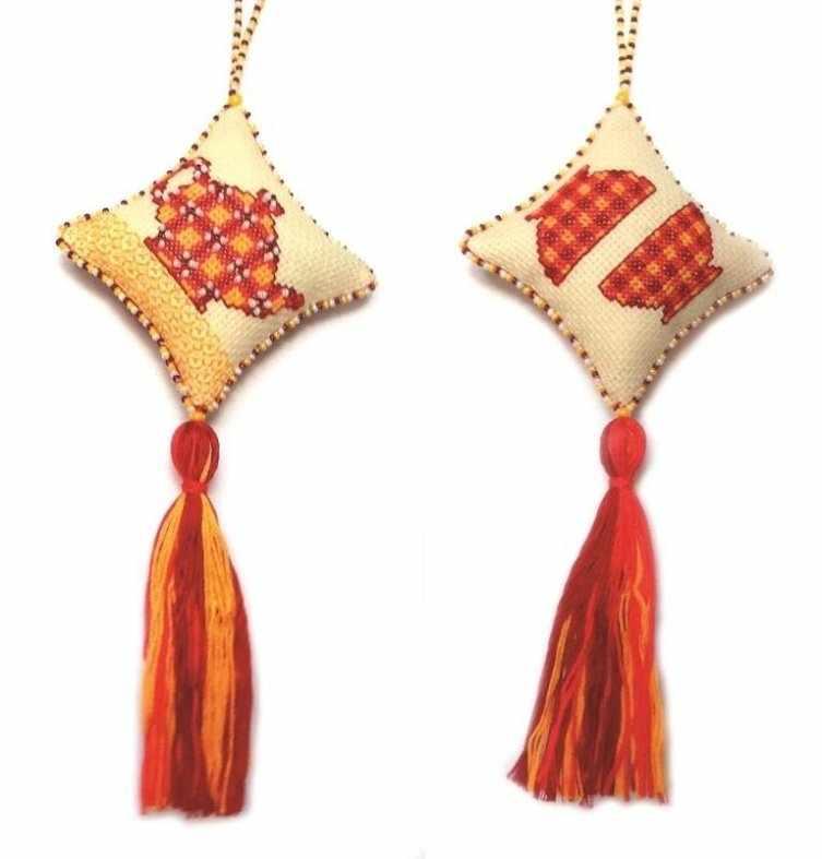 М-005 Чайная церемония (красная) - новогодняя игрушка