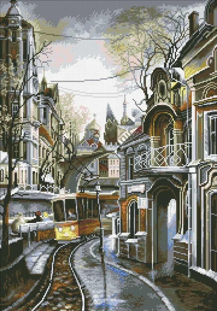 М425 Трамвайный путь - мозаика (Паутинка)