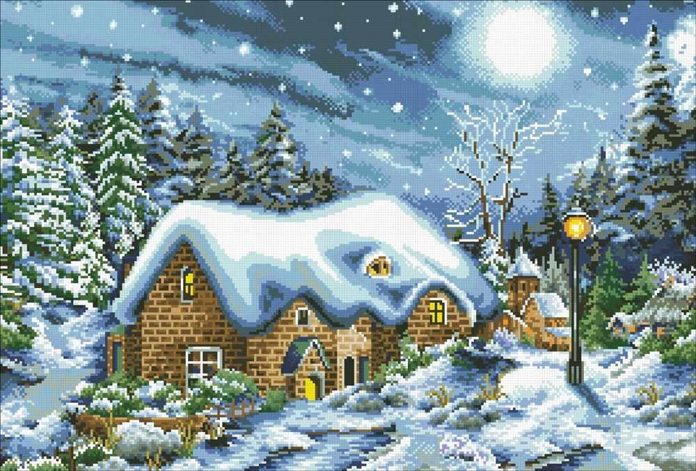 М429 Рождественская ночь - мозаика (Паутинка)