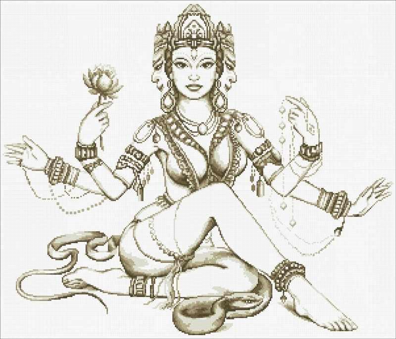 М104 Мифы Индии - мозаика (Паутинка)