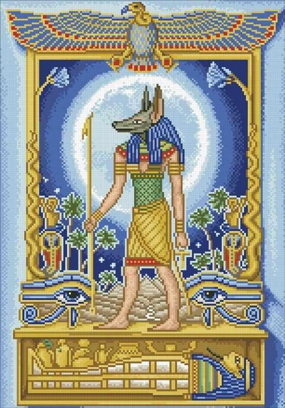 М108 Анубис-покровитель путешественников - мозаика (Паутинка)