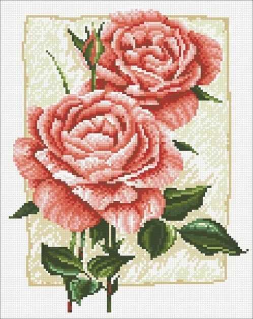 М224 Садовая роза - мозаика (Паутинка)