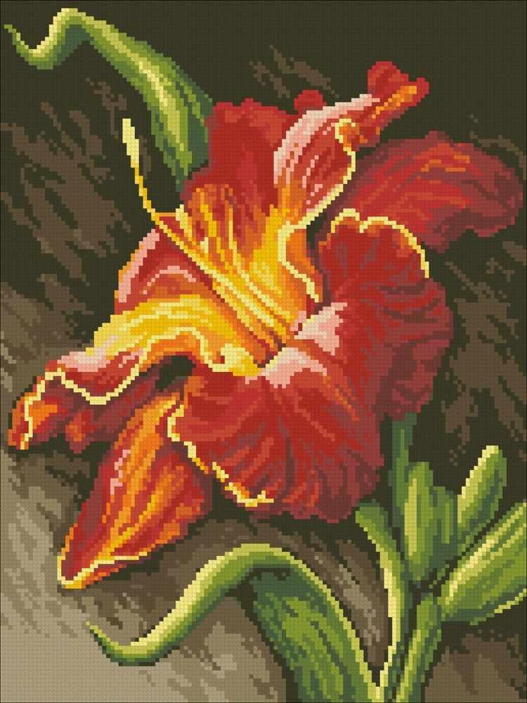 М225 Огненная лилия   - мозаика (Паутинка)