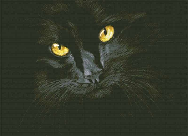 М301 Черная кошка - мозаика (Паутинка)