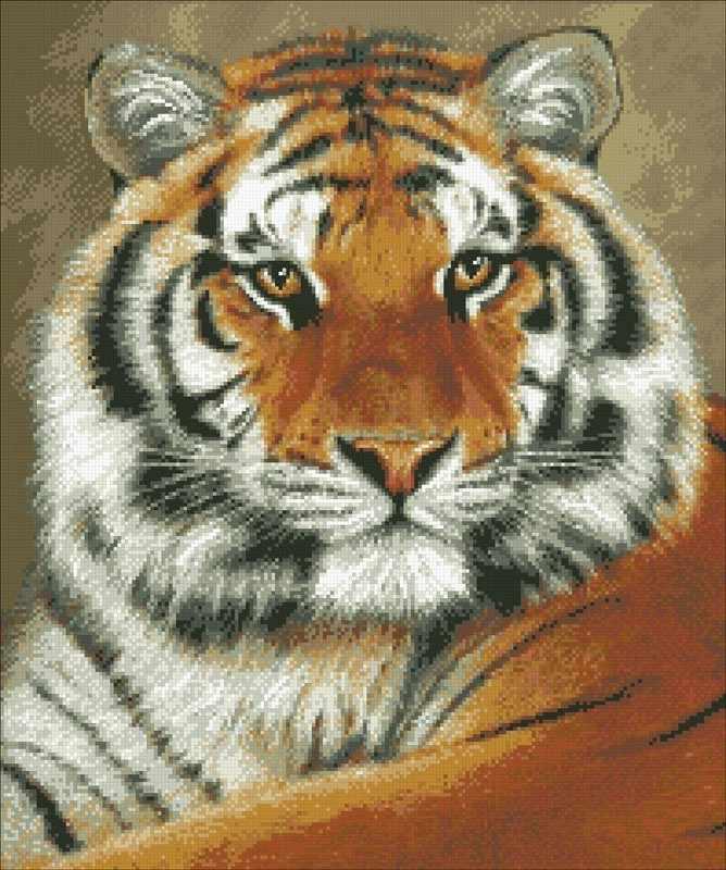 М305 Тигр - мозаика (Паутинка)