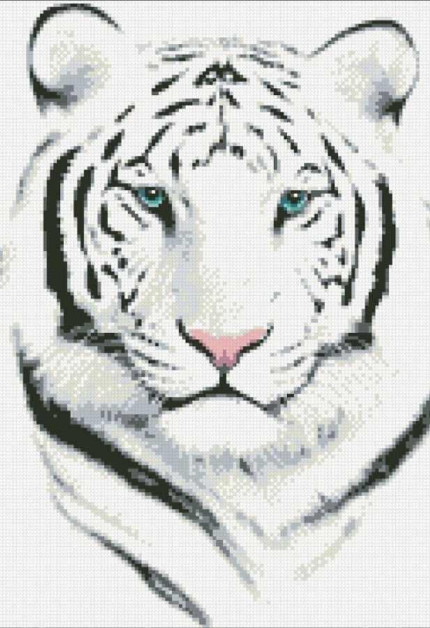 М306 Белый тигр - мозаика (Паутинка)