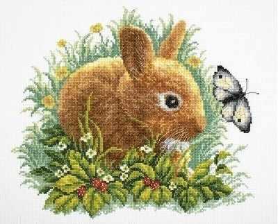 M323 Кролик и бабочка