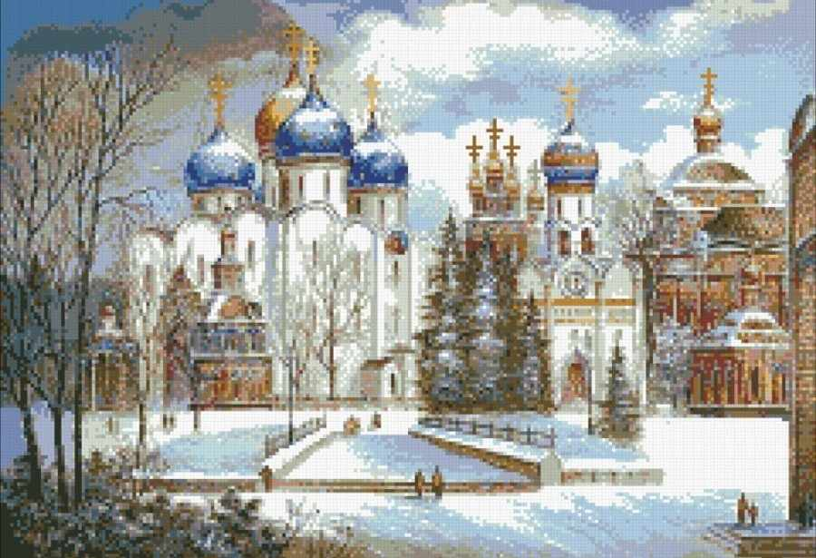 М413 Русь православная - мозаика (Паутинка)