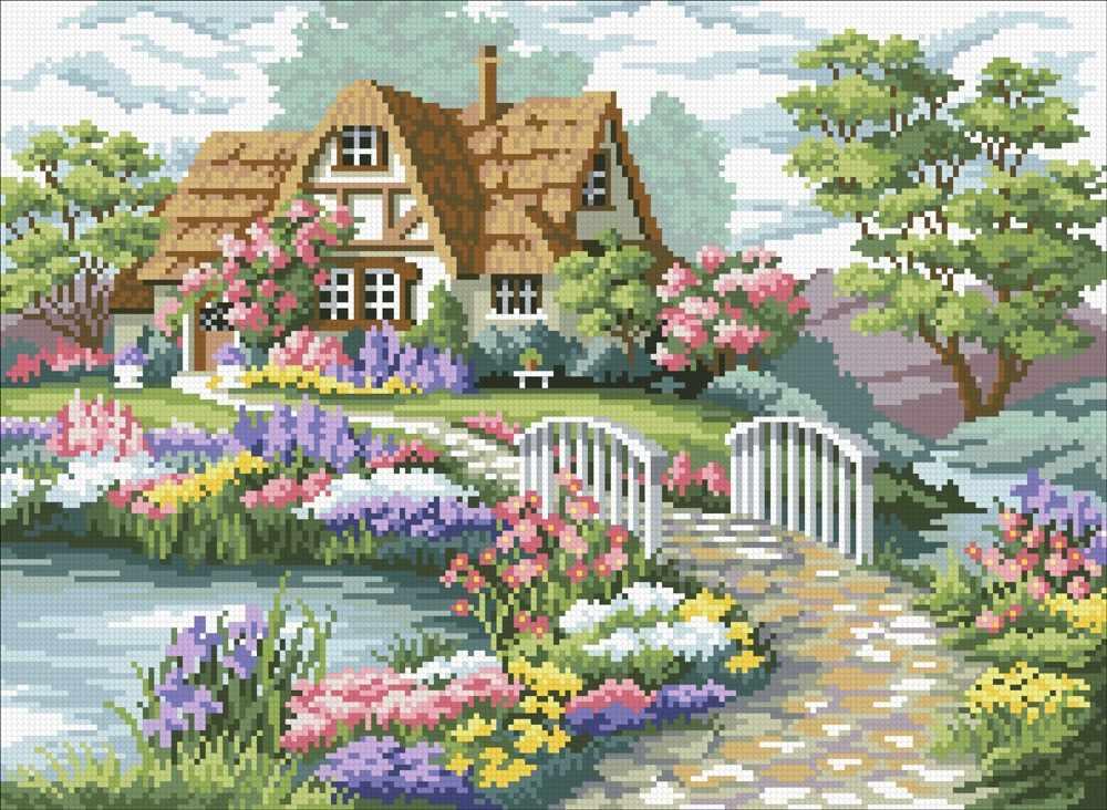 М423 Загородный домик - мозаика (Паутинка)