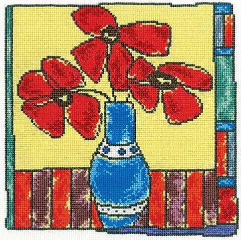 M476 Красные цветы