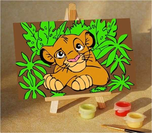 MA242 Король лев - раскраска (Menglei)