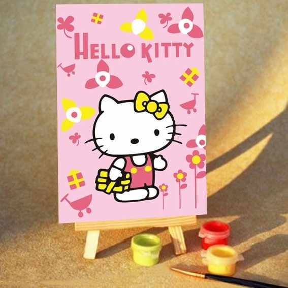 MA253 Hello Kitty - раскраска (Menglei)