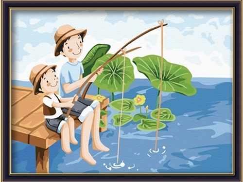 ME017 Деревенские рыбаки - раскраска (Menglei)