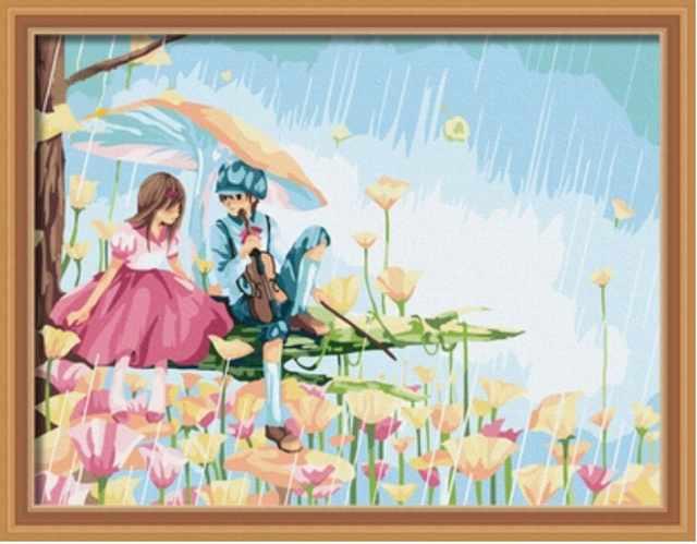 ME033 Весенняя сказка - раскраска (Menglei)