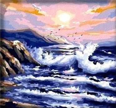 MF006 Морская волна - раскраска (Menglei)
