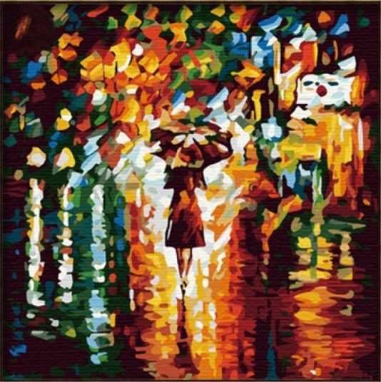 MF014 В дождь - раскраска (Menglei)
